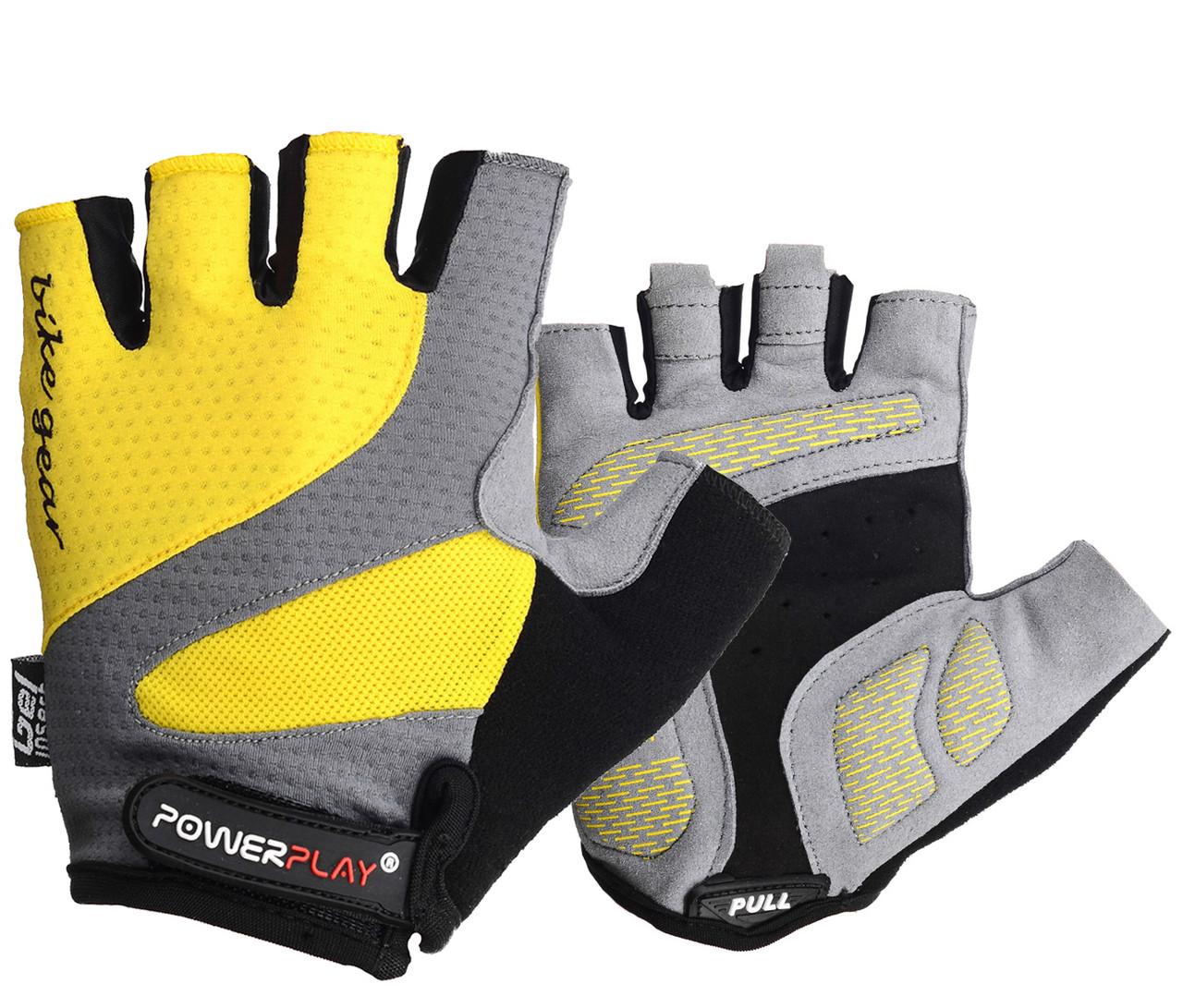 Велорукавички PowerPlay 5004 D Жовті L