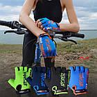 Велорукавички PowerPlay 5029 G Блакитні M, фото 10
