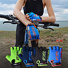 Велорукавички PowerPlay 5029 E Сині L, фото 10