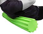 Ролик для йоги і пілатес PowerPlay 4020 (90*15см) Зелений, фото 3