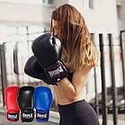 Боксерські рукавиці PowerPlay 3004 Сині 12 унцій, фото 8