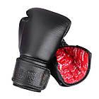 Боксерські рукавиці PowerPlay 3014 Чорні [натуральна шкіра] 16 унцій, фото 7