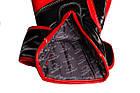Боксерські рукавиці PowerPlay 3017 Чорні карбон 16 унцій, фото 4