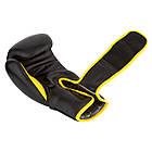 Боксерські рукавиці PowerPlay 3018 Чорно-Жовті 10 унцій, фото 3