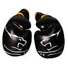 Боксерські рукавиці PowerPlay 3018 Чорно-Жовті 10 унцій, фото 4