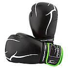 Боксерські рукавиці PowerPlay 3018 Чорно-Зелені 14 унцій, фото 10