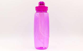 Бутылка для воды с камерой для льда спортивная FI-6436-3 750мл (TRITAN прозрач, PP, фиолетовый)