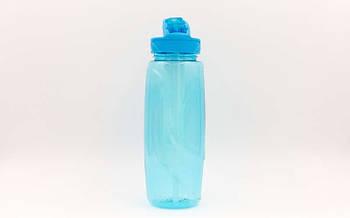 Пляшка для води з камерою для льоду спортивна FI-6436-4 750мл (TRITAN прозрач, PP, бірюза)