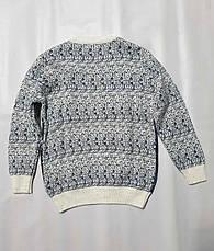Дитячий в'язаний светр з оленями на хлопчиків 5-11 років Туреччина, фото 3