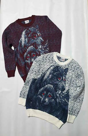 Дитячий в'язаний светр з оленями на хлопчиків 5-11 років Туреччина, фото 2