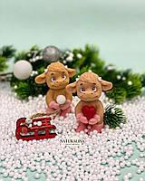 Мыло ручной работы Яшка с сердцем или снежкой Год Быка Новогодний сувенир