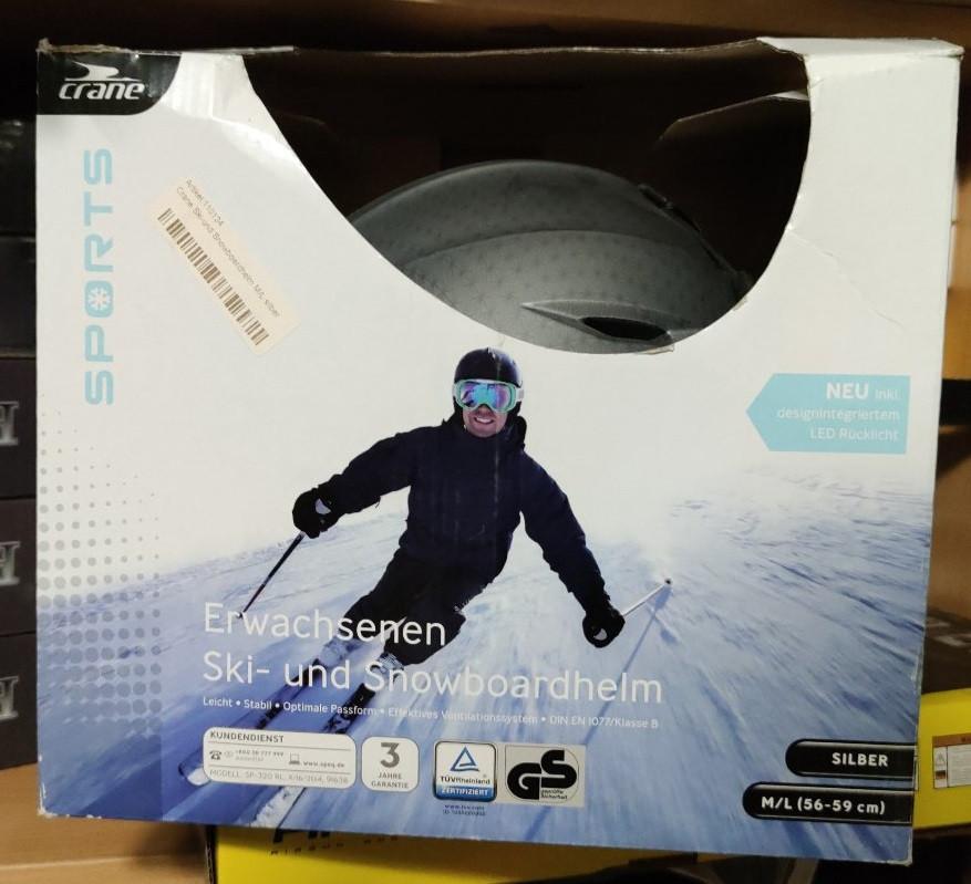 Гірськолижний шолом для сноуборда і гірських лиж Crane M/L (46-59 см) сірий Німеччина