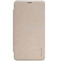 Чехол книжка Nillkin Sparkle Series для Microsoft Lumia 950 Dual Sim золотой