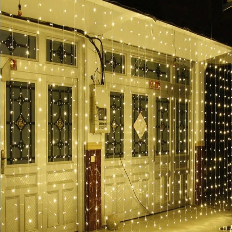 Светодиодная гирлянда LTL штора сurtain 6*3 м 900 LED 220v Теплое свечение
