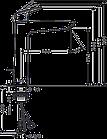 Logis Смеситель для раковины, однорычажный, корпус высокий, фото 2