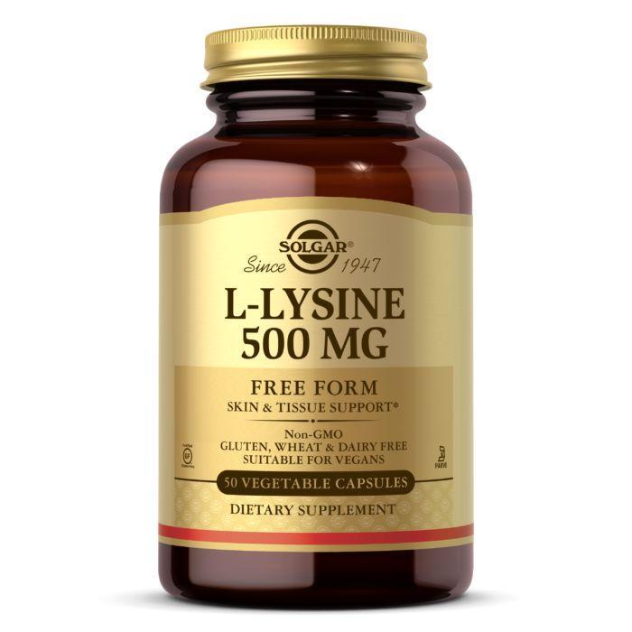 Аминокислота Solgar L-Lysine 500 mg, 50 вегакапсул