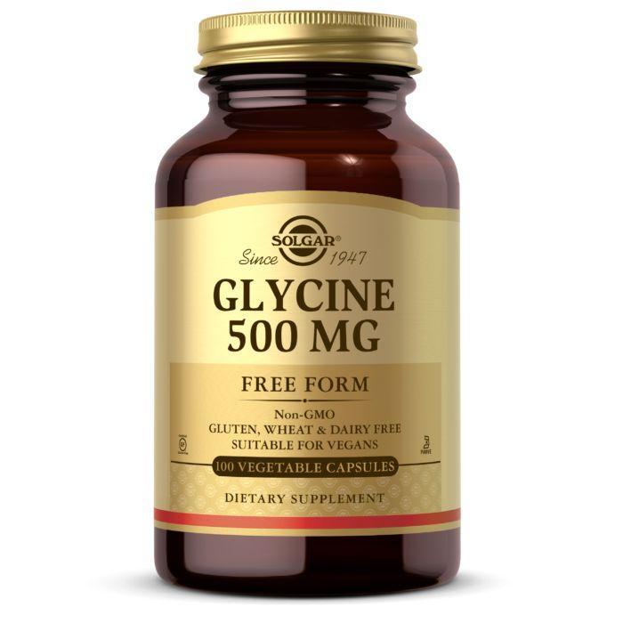 Аминокислота Solgar Glycine 500 mg, 100 вегакапсул