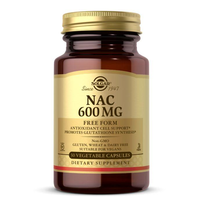 Аминокислота Solgar NAC 600 mg, 30 вегакапсул