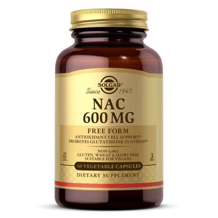 Аминокислота Solgar NAC 600 mg, 60 вегакапсул