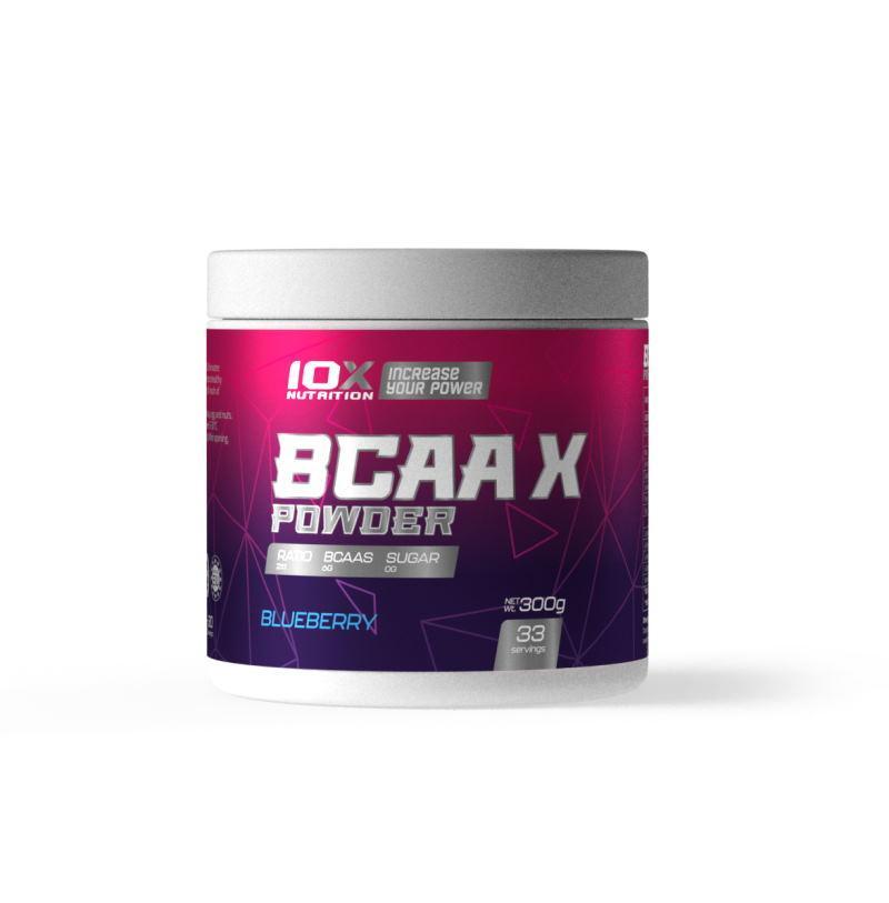 Аминокислота 10XNutrition BCAA X Powder, 300 грамм Ежевика