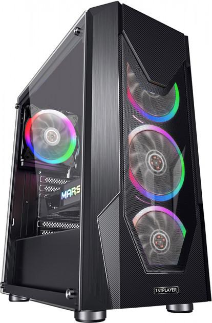 Корпус 1stPlayer D5-R1 Color LED Black без БП