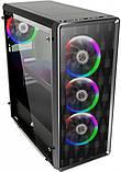 Корпус 1stPlayer D8-A-R1 Color LED Black без БП, фото 2