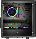 Корпус 1stPlayer D8-A-R1 Color LED Black без БП, фото 3