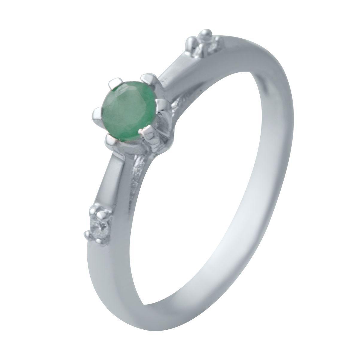 Серебряное кольцо DreamJewelry с натуральным изумрудом (2032700) 17.5 размер