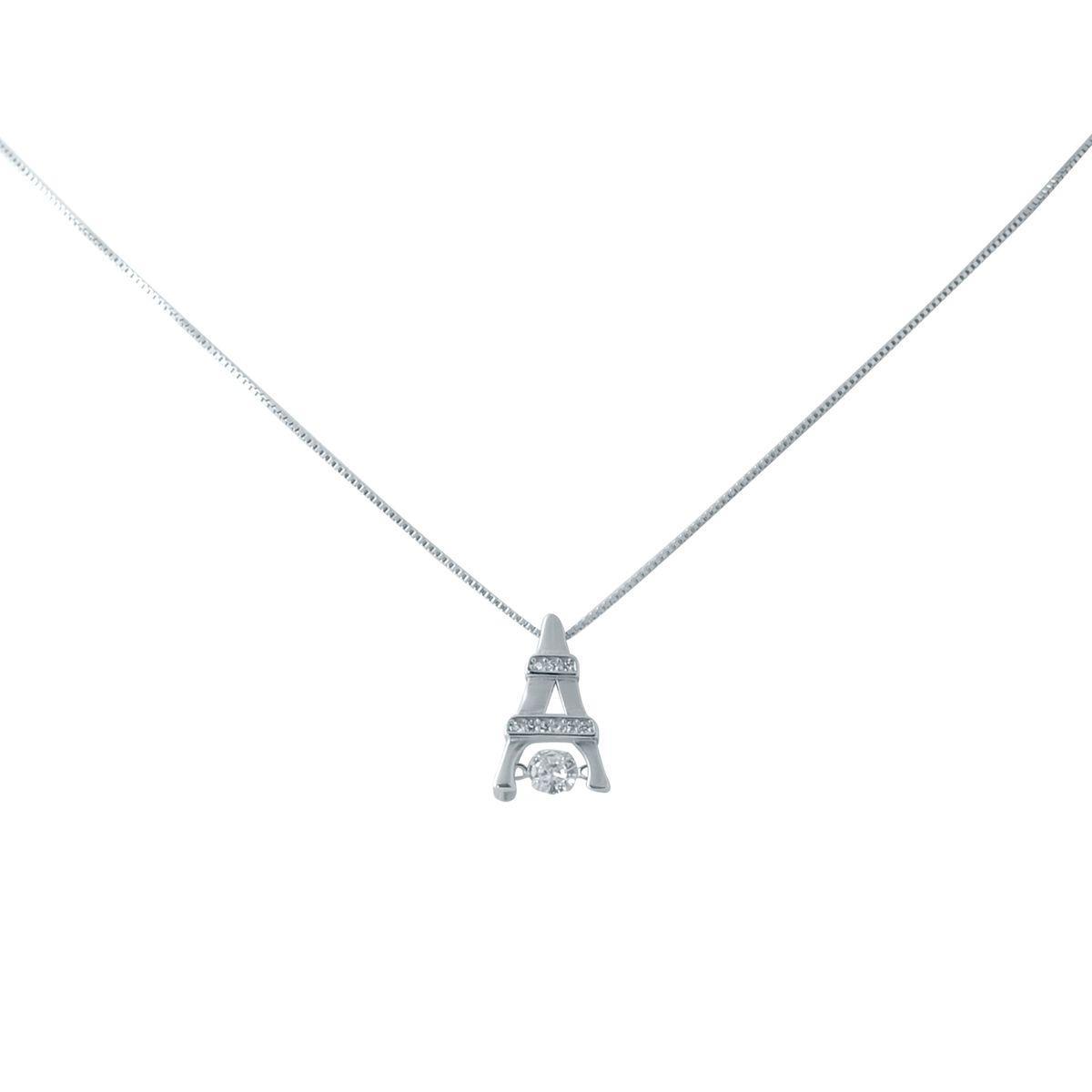 Серебряное колье DreamJewelry с фианитами (2038429) 450 размер