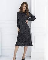 Платье женское плиссе черное
