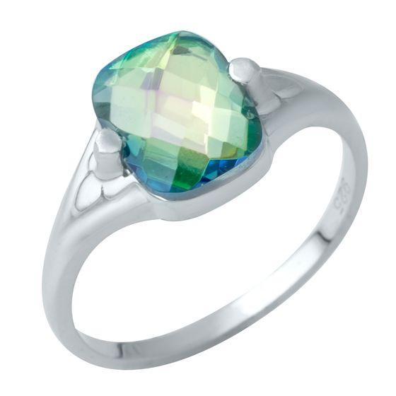 Серебряное кольцо DreamJewelry с натуральным мистик топазом 2.175ct (1949610) 18 размер