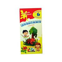 """Пластилин """"Увлечение"""" со стеком Гамма 331008 (23184), 6 цветов"""