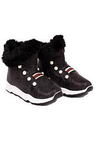 Ботинки детские девочка черные GFB 126737P