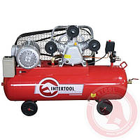 Компрессор 100 л, 5 HP, 4 кВт, 380 В, 8 атм, 600 л/мин. 3 цилиндра INTERTOOL PT-0036