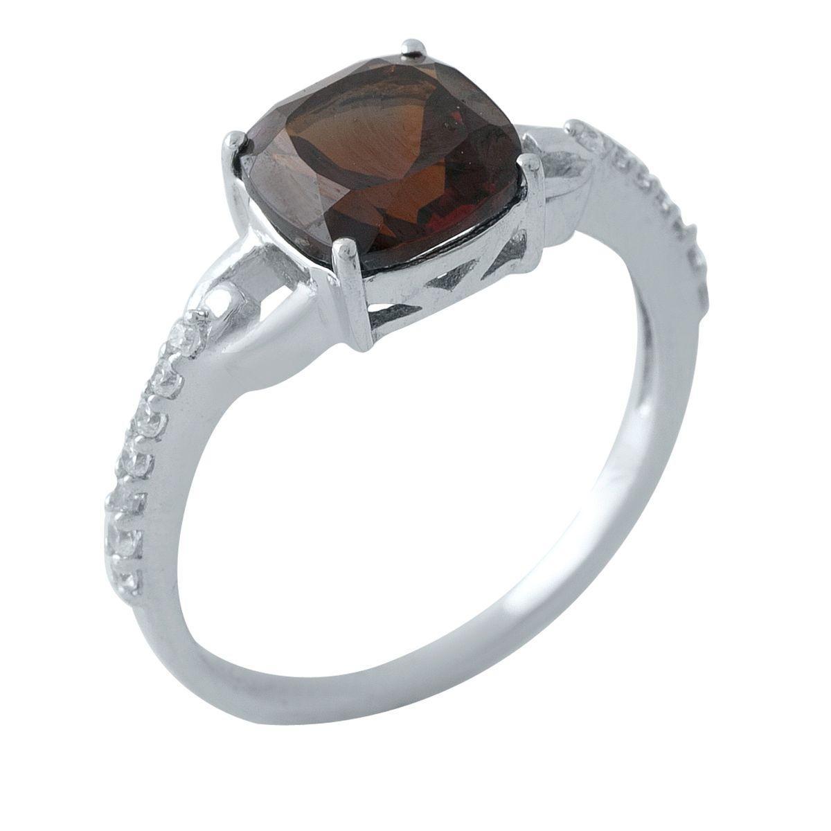 Серебряное кольцо DreamJewelry с натуральным гранатом (1970461) 17 размер