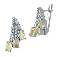 Серебряные серьги DreamJewelry с цитрином nano (1971086), фото 1