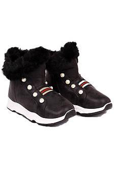 Ботинки детские девочка черные GFB 126737M