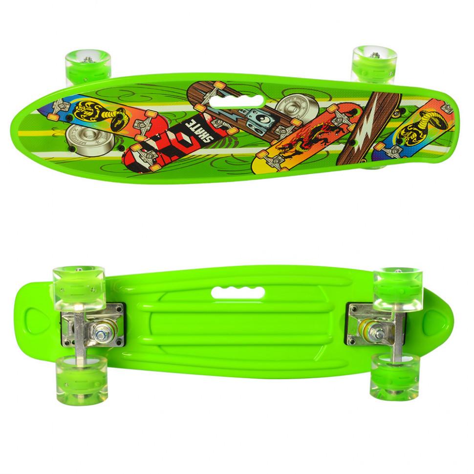 Скейтборд Пенниборд MS 0749-6 Салатовый
