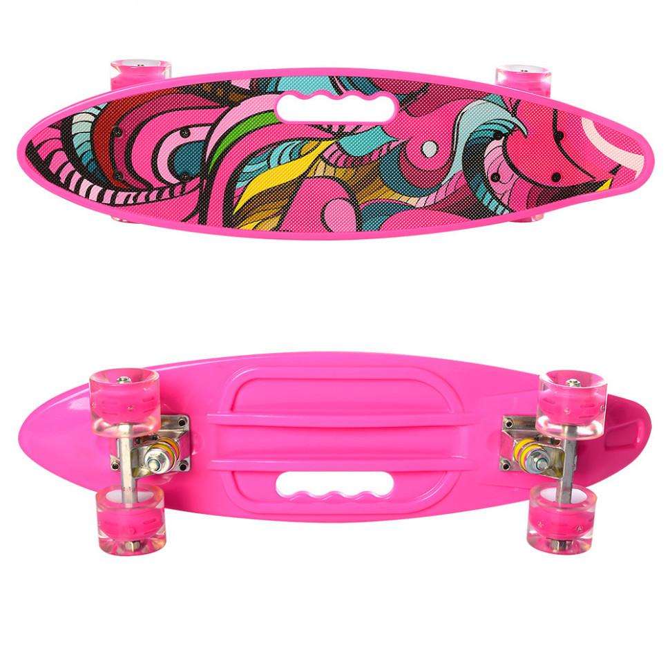 Скейтборд Пенниборд MS 0461-2 Розовый