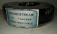 Кабель микрофонный 2жилы, Ø2,8мм, чёрный