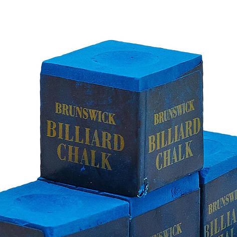 Мел для бильярда (уп. 144шт) BRUNSWICK KS-BK144 (синий, цена за 1шт) Replica, фото 2