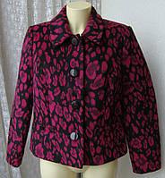 Пальто женское короткое жакет легкое неутепленное фуксия бренд Isle EWM р.48-50