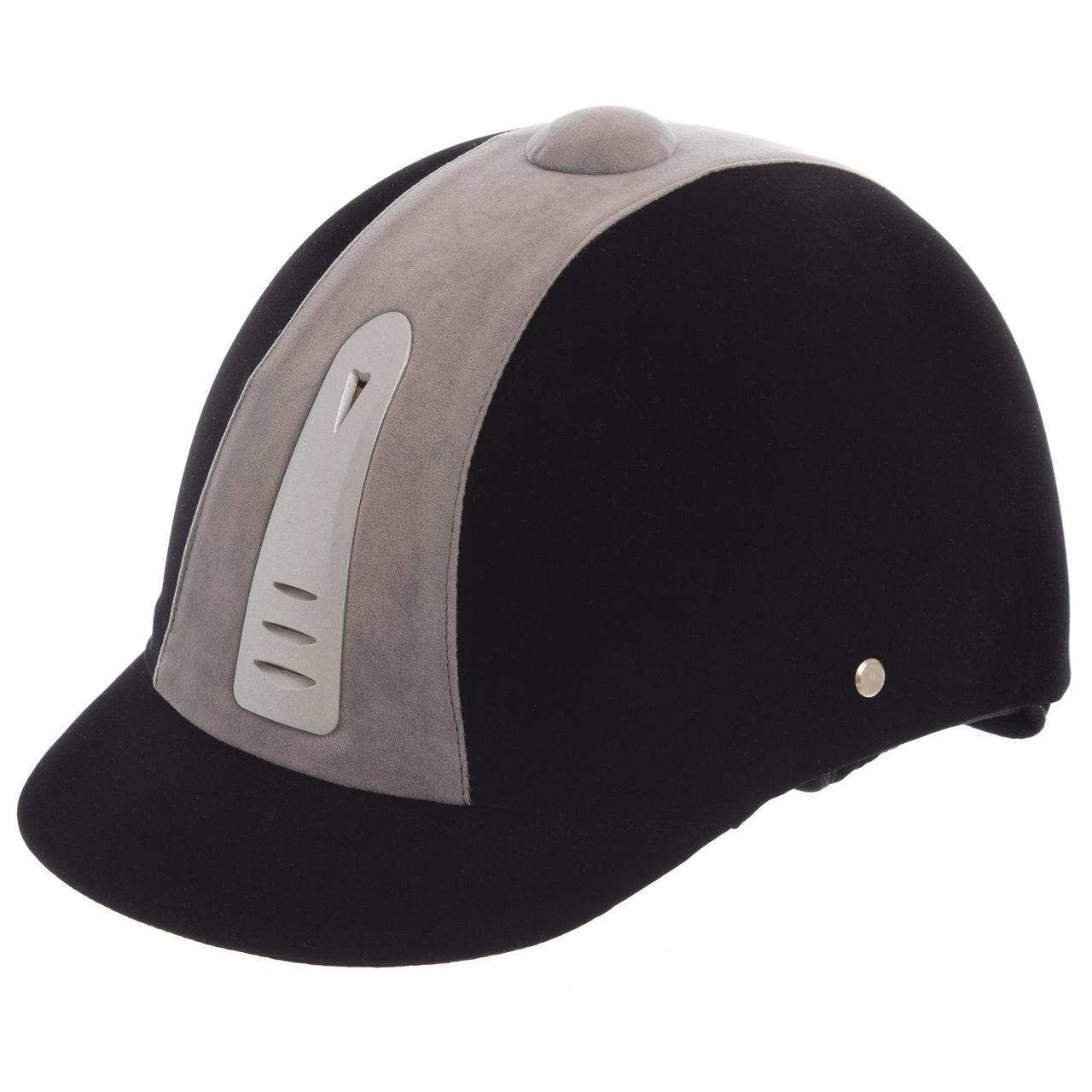 Шлем для верховой езды BC-908-1 (ABS, р-р 54, черный-белый)