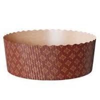 Паперова форма кругла 178*70 для випічки, темно-коричнева