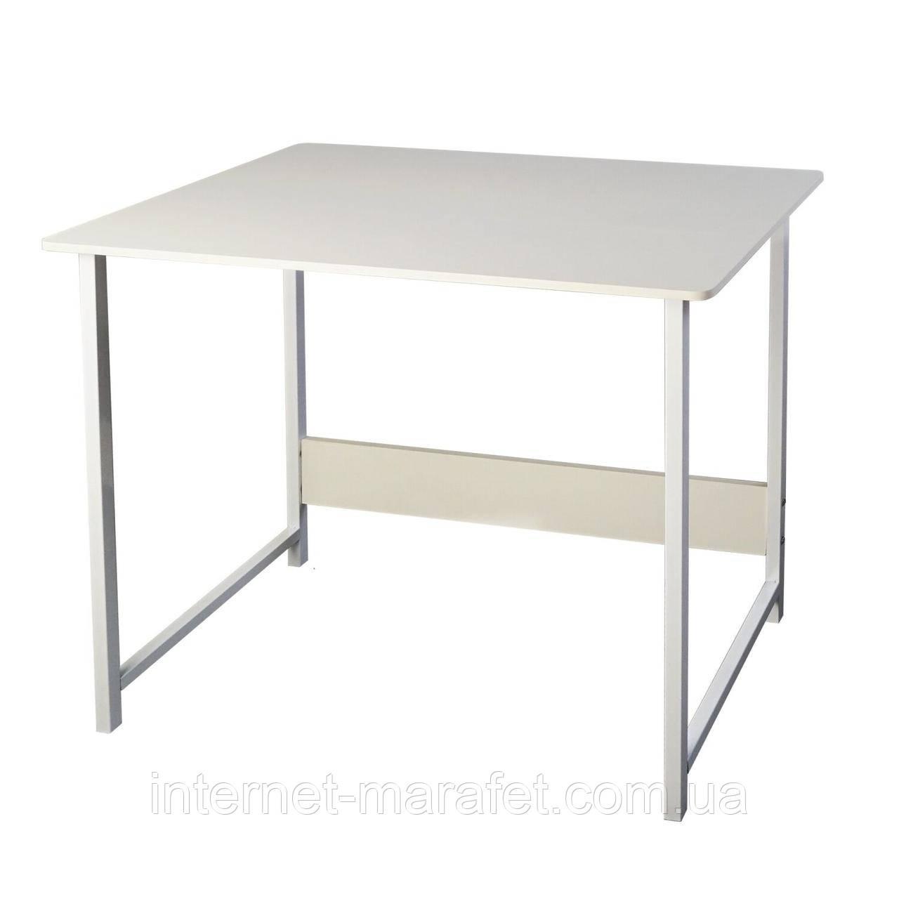 Компьютерный и письменный стол  2 в 1 белый