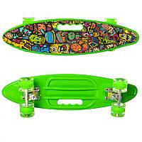 Скейт пенни MS 0461-2 (Green), детский скейт,скейт,пенни борд,детский скейтборд