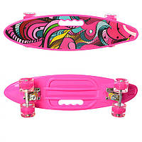 Скейт пенни MS 0461-2 (Pink), детский скейт,скейт,пенни борд,детский скейтборд