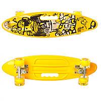 Скейт пенни MS 0461-2 (Yellow), детский скейт,скейт,пенни борд,детский скейтборд
