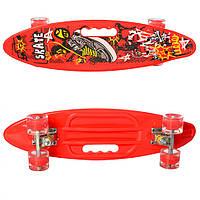 Скейт пенни MS 0461-2 (Red), детский скейт,скейт,пенни борд,детский скейтборд