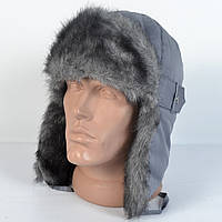 Теплая детская шапка-ушанка на зиму из искуственного меха - модель 29-320